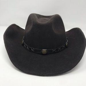 Double S Dakota Dark Brown Cowboy Hat 100% Wool
